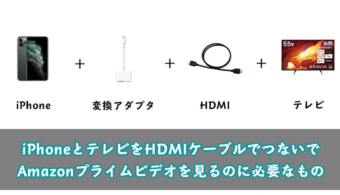 iPhoneとテレビをHDMIで接続してAmazonプライムビデオを見る方法